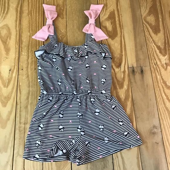 a0b579fe5200 Lily Bleu Other - Lily Bleu One Piece Romper Bows Panda Print Stripe
